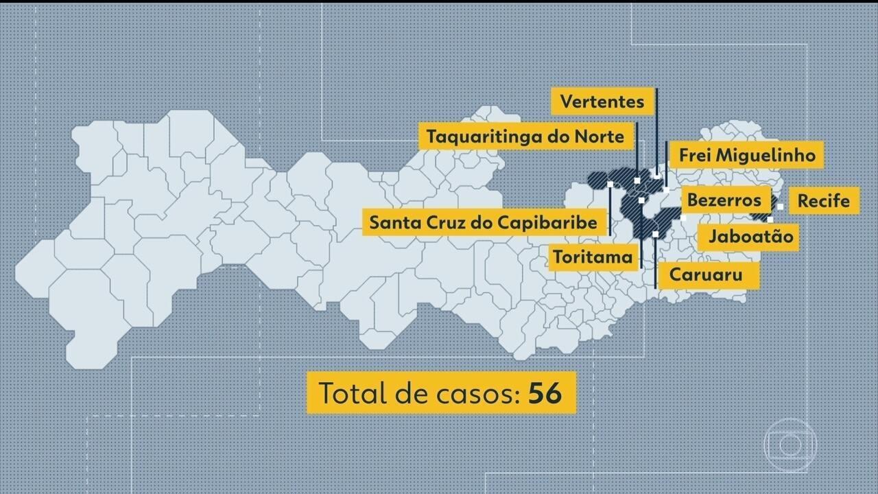 Sobem para 56 os casos confirmados de sarampo em Pernambuco