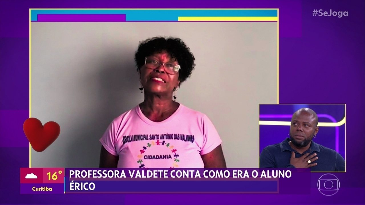 Professora Valdete conta como Érico Brás era como aluno