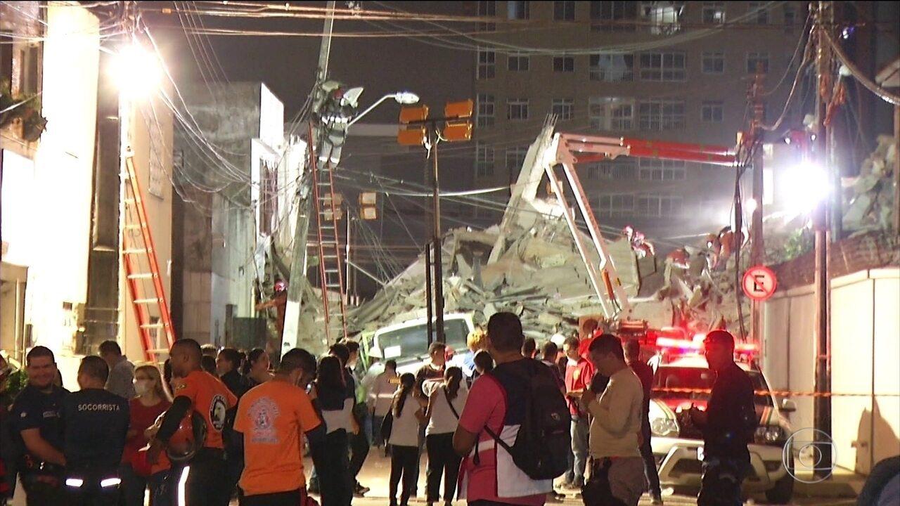 Corpo de Bombeiros confirma segunda morte no desabamento de um prédio em Fortaleza