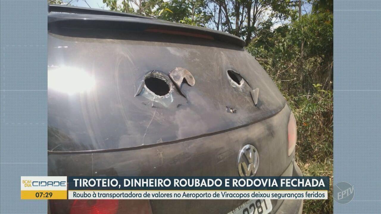 Anac, Policia Federal e grupos especiais investigam assalto no Aeroporto de Viracopos