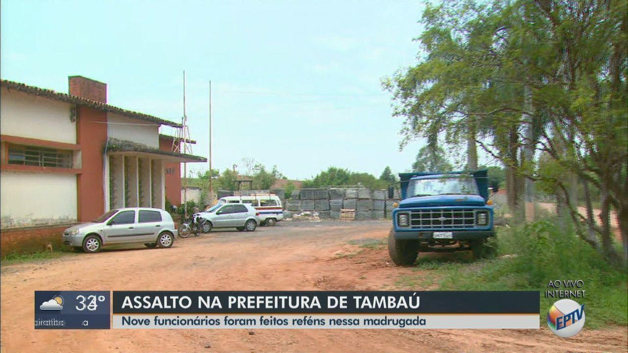 Assaltantes armados rendem funcionários da prefeitura de Tambaú e roubam maquinários