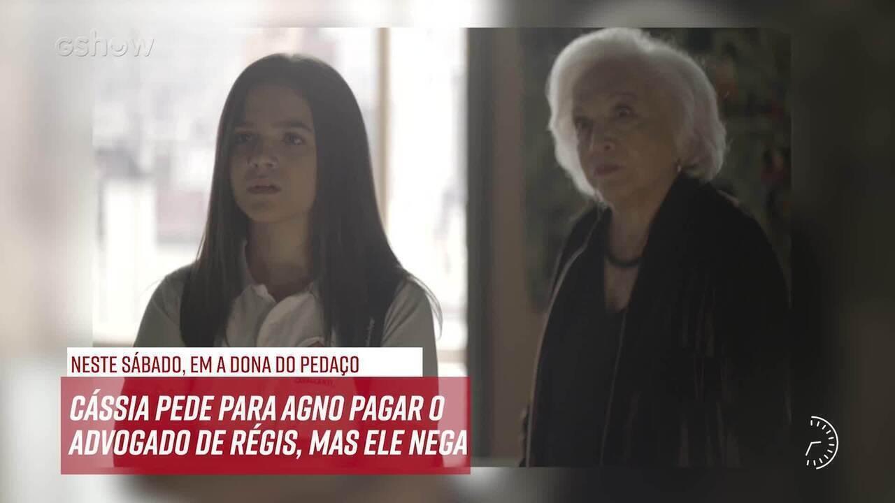 Resumo do dia - 19/10 – Cássia pede para Agno pagar o advogado de Régis, mas ele nega