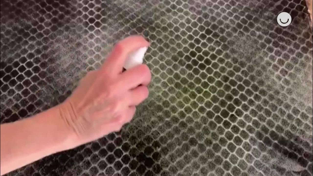 Pintura com tela de galinheiro: aprenda a técnica