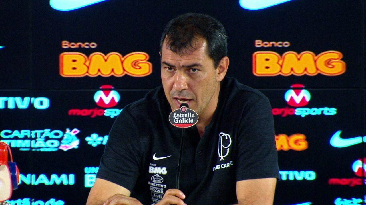 Fábio Carille fala sobre a derrota do Corinthians para o Cruzeiro na Arena