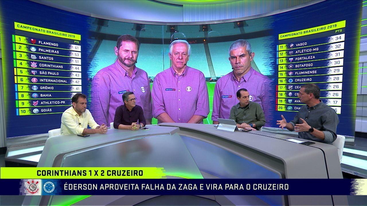 Comentaristas analisam a arbitragem de Corinthians x Cruzeiro