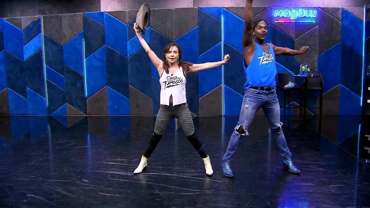 Veja o ensaio de Luiza Tomé e Marcus Lobo no baladão sertanejo do 'Dança'
