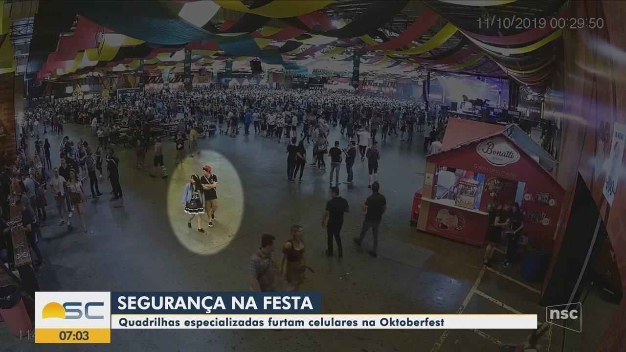Quadrilhas especializadas furtam celulares na Oktoberfest em Blumenau