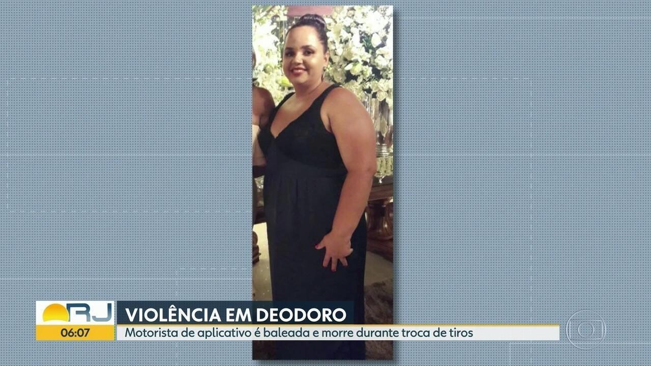Motorista de aplicativo é vítima de bala perdida em Deodoro, Zona Oeste do Rio
