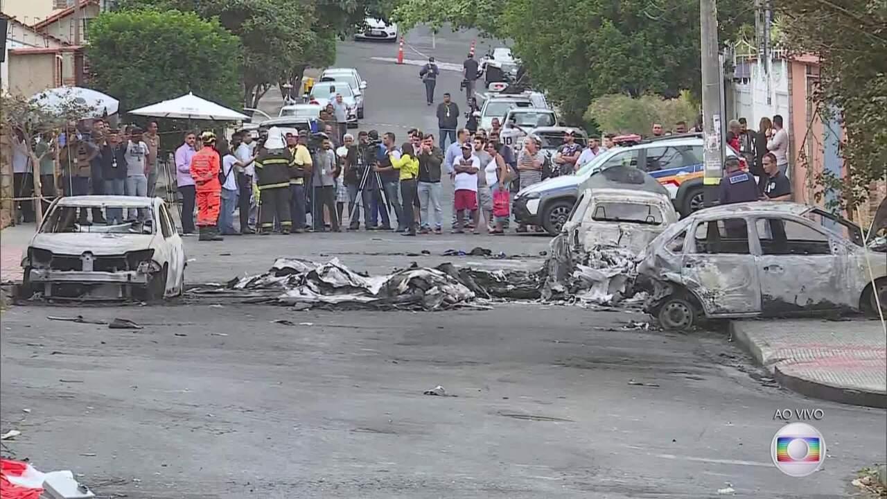 Radar MG: peritos do Cenipa estão no bairro Caiçara para identificar as causas do acidente
