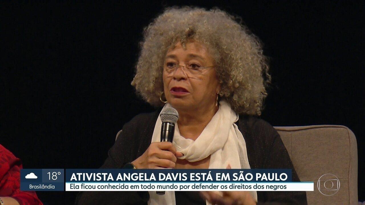 Angela Davis visita São Paulo e participa de eventos para falar sobre a luta por liberdade