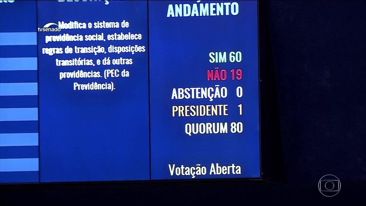 Senadores aprovam em segundo turno a reforma da Previdência