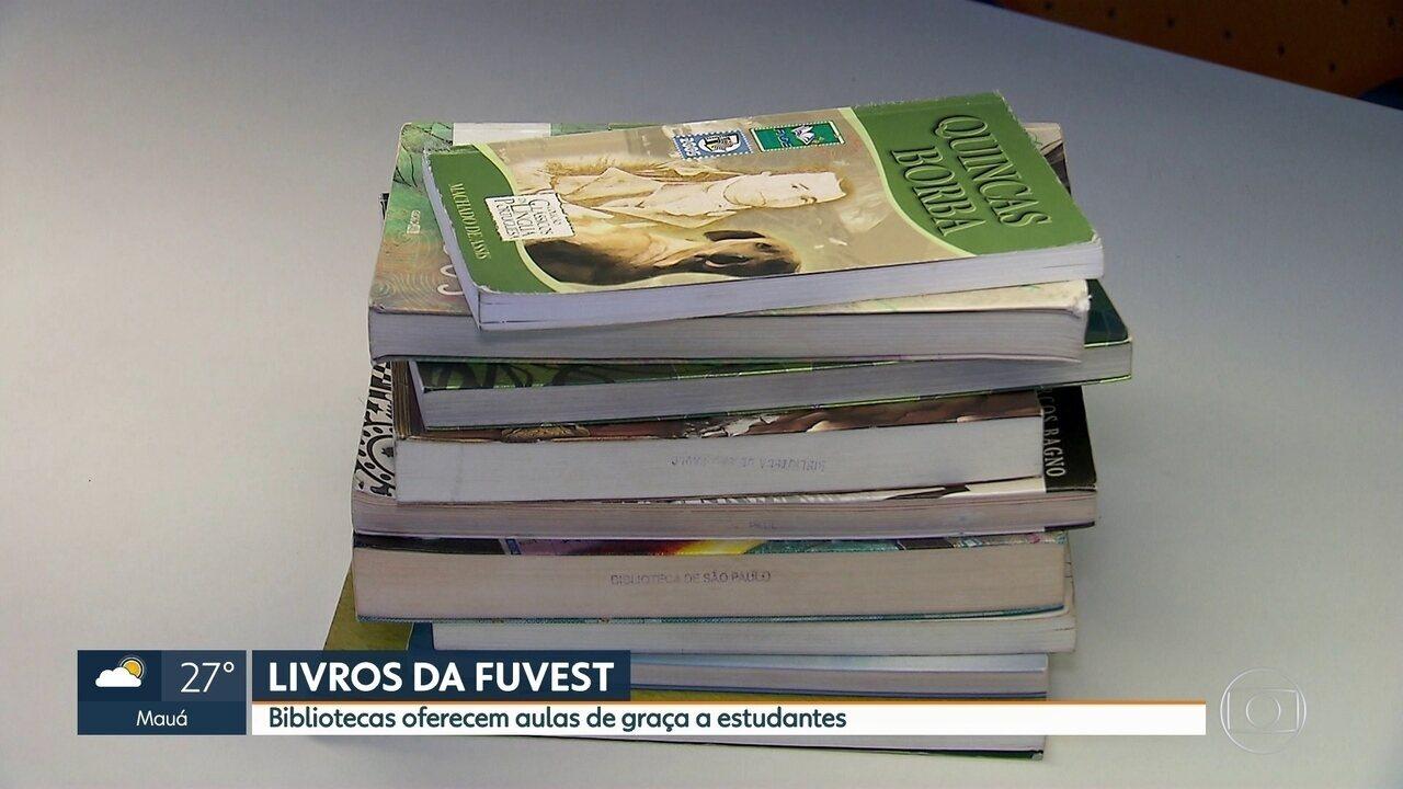 Bibliotecas oferecem aulas sobre os livros da Fuvest