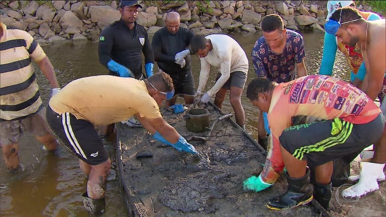 Voluntários que limparam praias poluídas por óleo têm sintomas de intoxicação