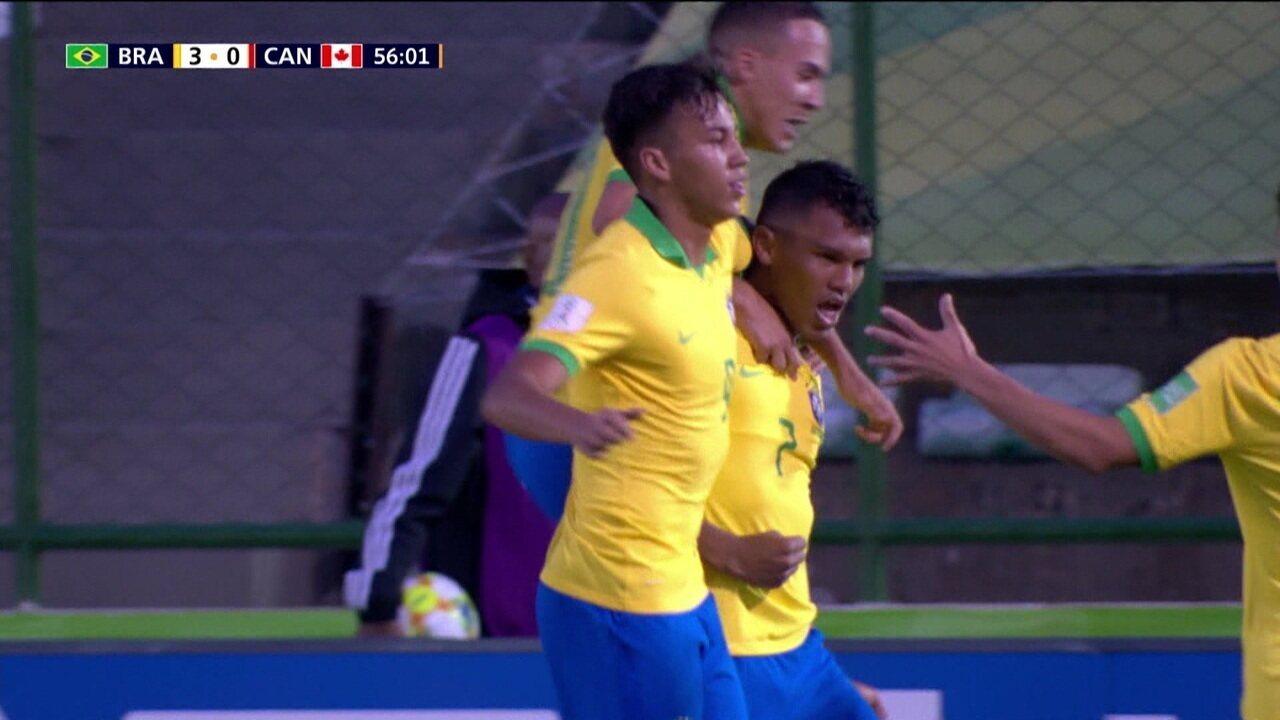 Brasil vence o Canadá na estreia no mundial Sub-17