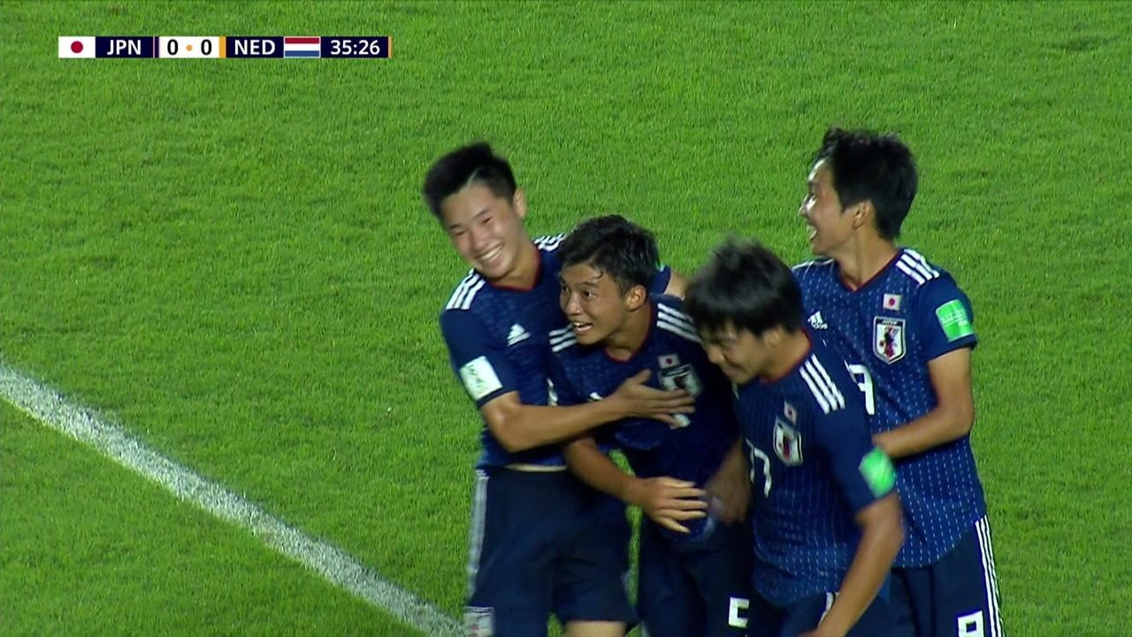 Gols de Japão 3 x 0 Holanda pela 1ª rodada do Mundial Sub-17
