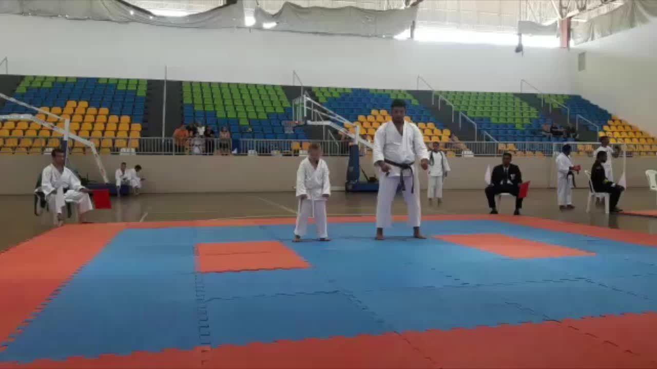 Maria Rosa garantiu duas medalhas de ouro no mundial de Karatê, em Porto Velho