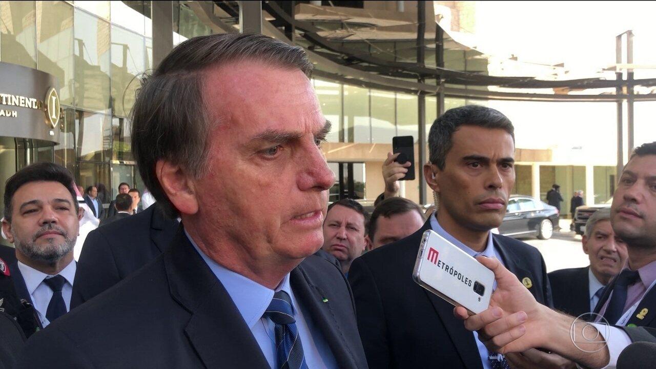 Bolsonaro diz ter sido avisado por Witzel sobre citação no caso Marielle