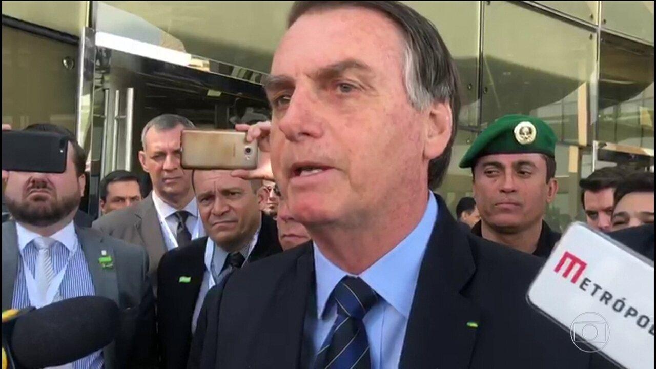 Bolsonaro diz ter sido avisado por Witzel de que seu nome aparecia em investigação