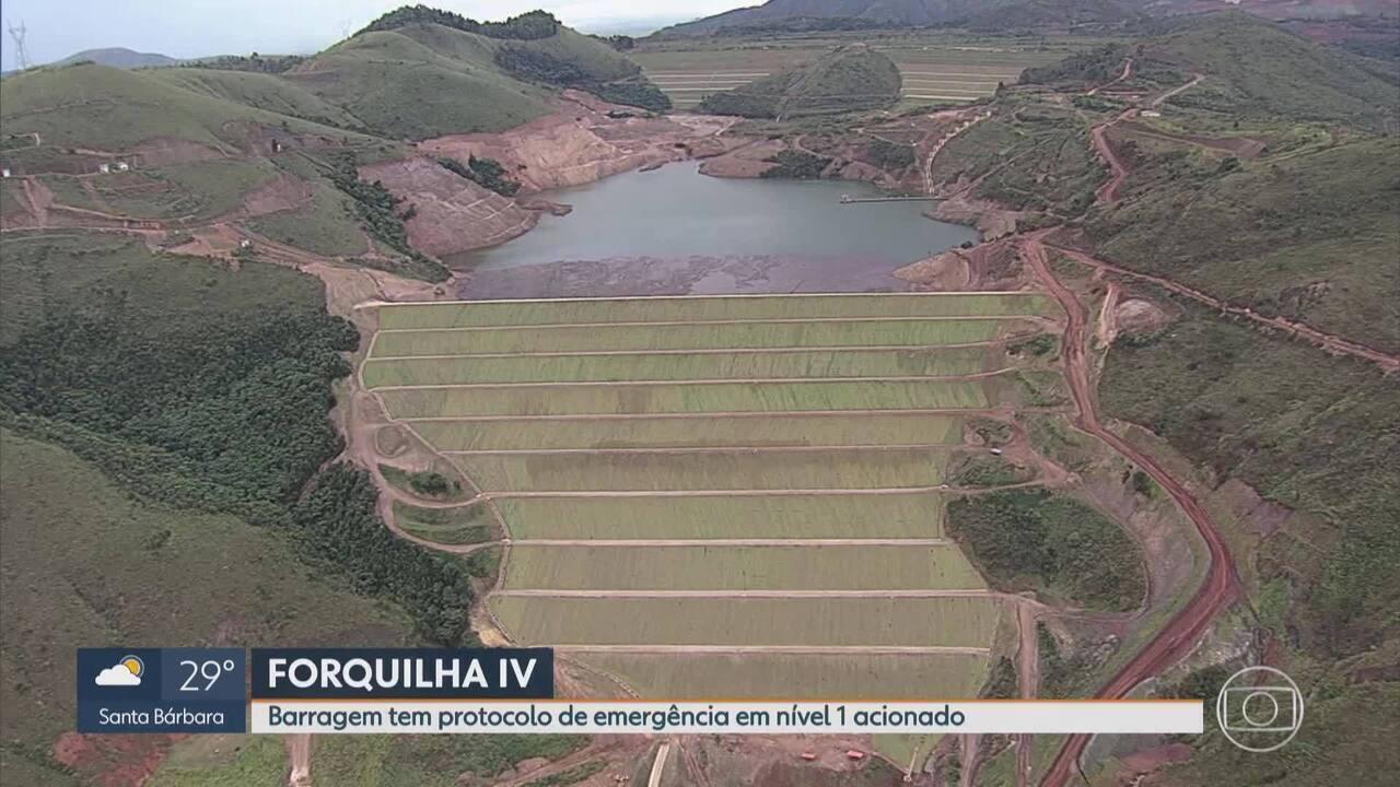 Vale eleva nível de segurança da barragem Forquilha IV em Ouro Preto