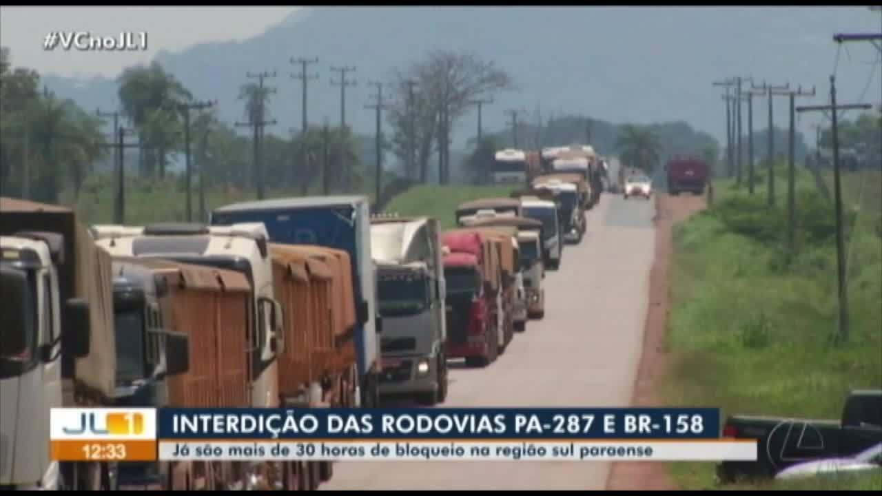 Garimpeiros interditam por mais 30h as rodovia PA-257 e BR-158 no sul do Pará