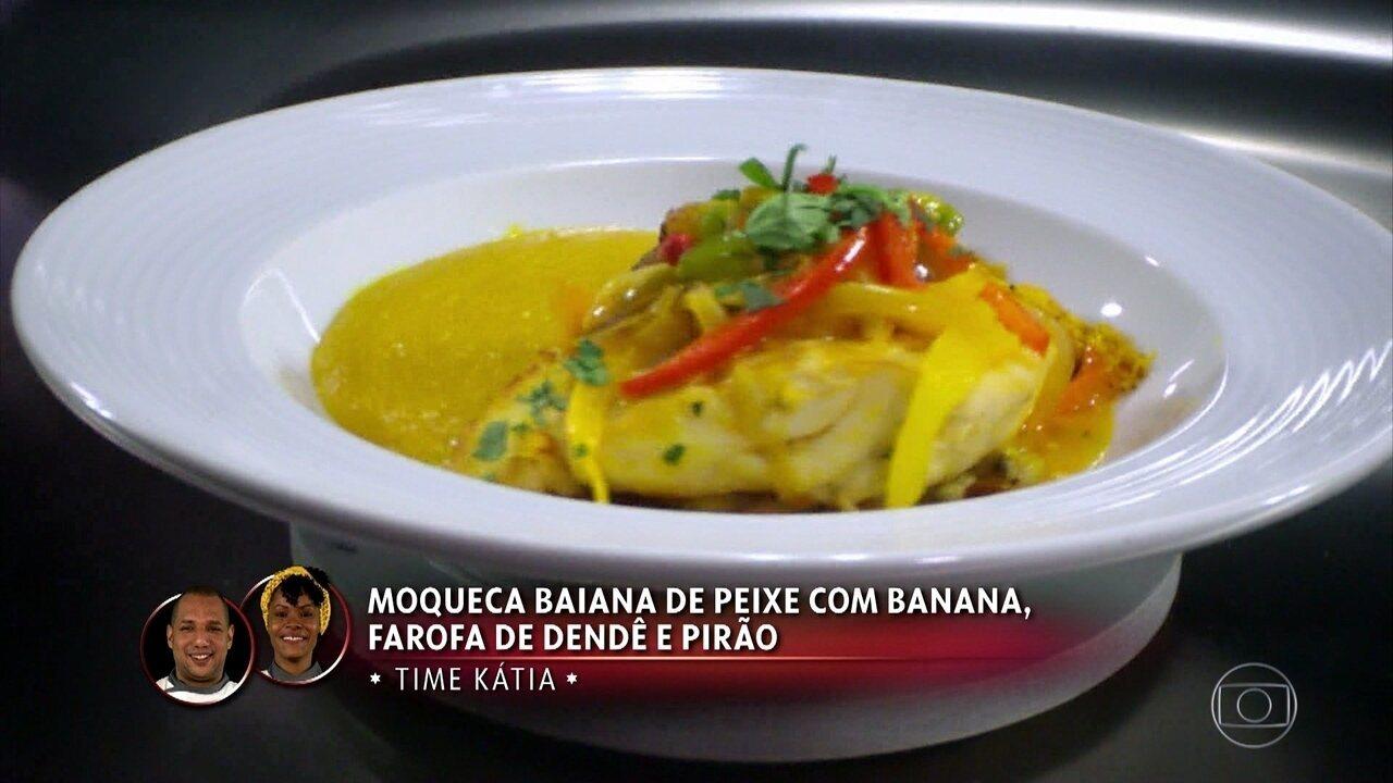 Moqueca Baiana De Peixe Com Banana, Farofa de Dendê e Pirão da Lili Almeida e Fernando Vaz