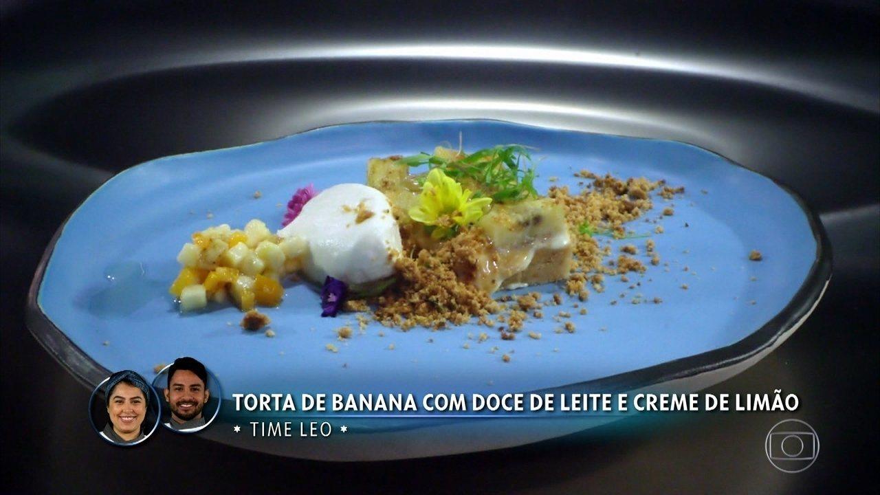 Torta de Banana com Doce de Leite e Creme de Limão da Raissa Ribeiro e Roberto Neves