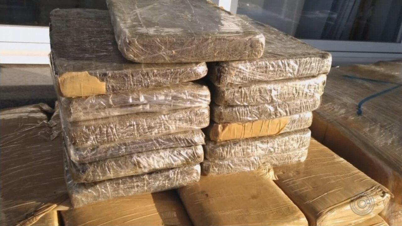 Polícia Militar apreende grande quantidade de drogas com caminhoneiro em Palmital