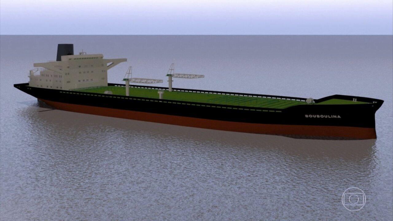 Governo suspeita que navio grego seja responsável pelas manchas de óleo no litoral do NE
