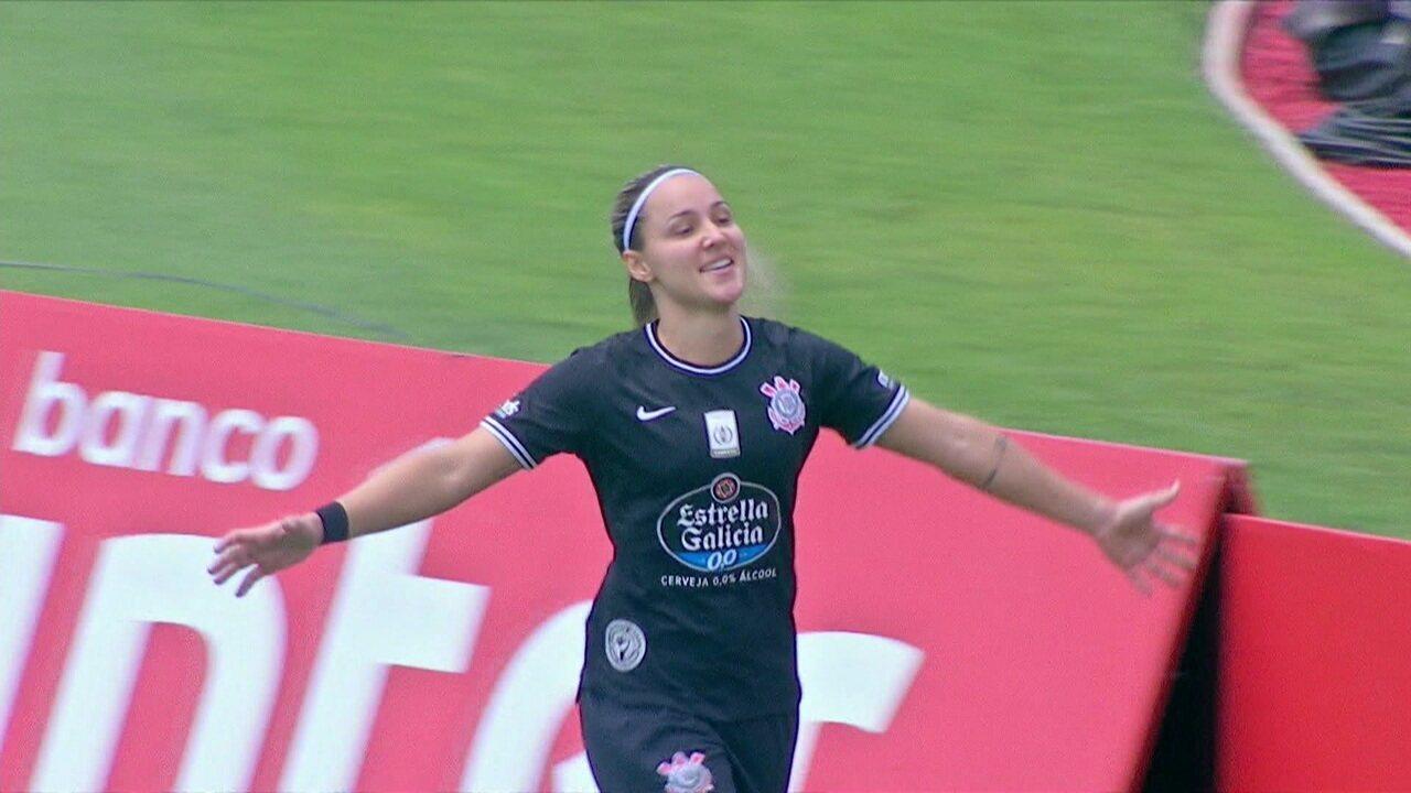 O gol de São Paulo 0 x 1 Corinthians pelo 1º jogo da final do Paulista feminino