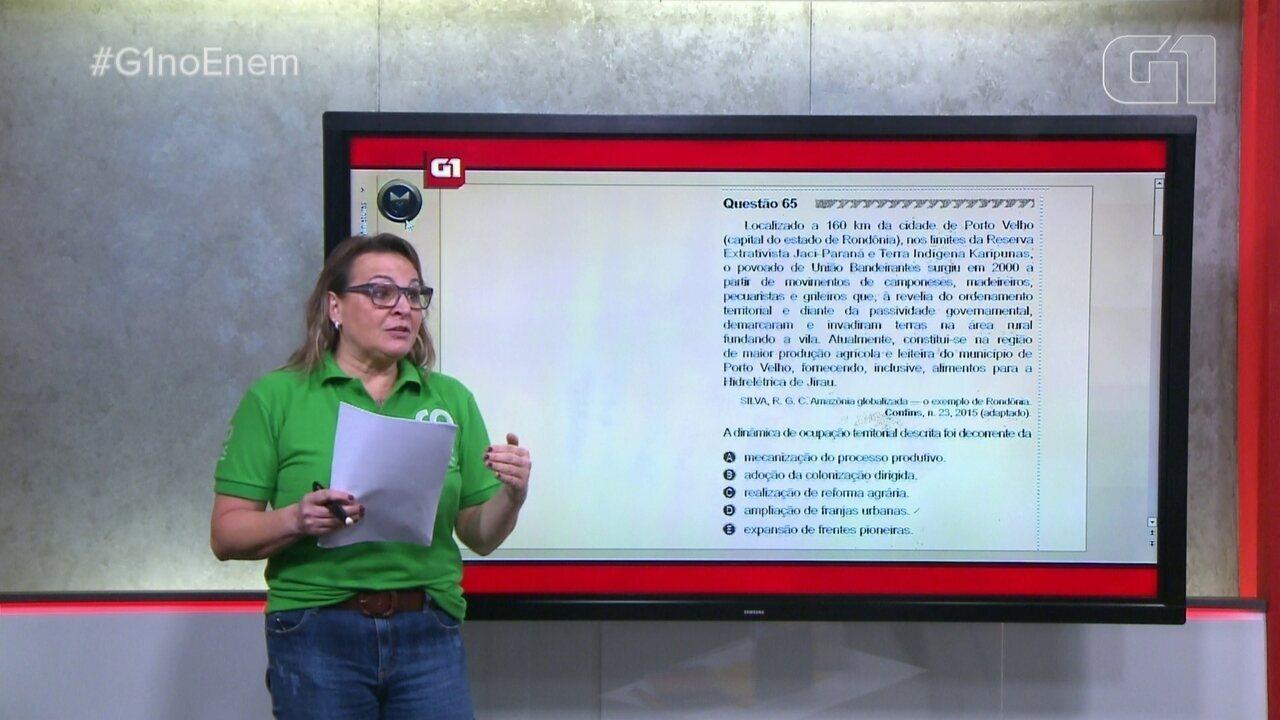 Veja a resolução da questão do Enem sobre 'Ocupação territorial'