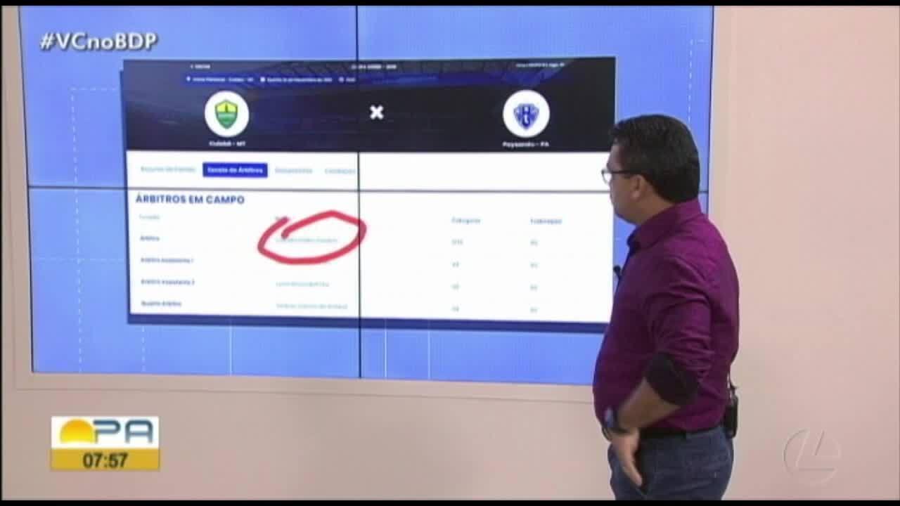 É #FAKE que Leandro Vuaden apitará o jogo entre Cuiabá e Paysandu, pela Copa Verde
