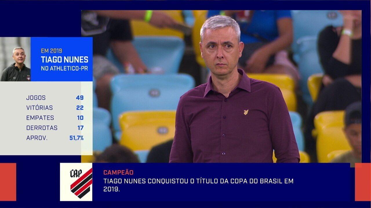Tiago Nunes não renova com o Athletico e destino é o Corinthians