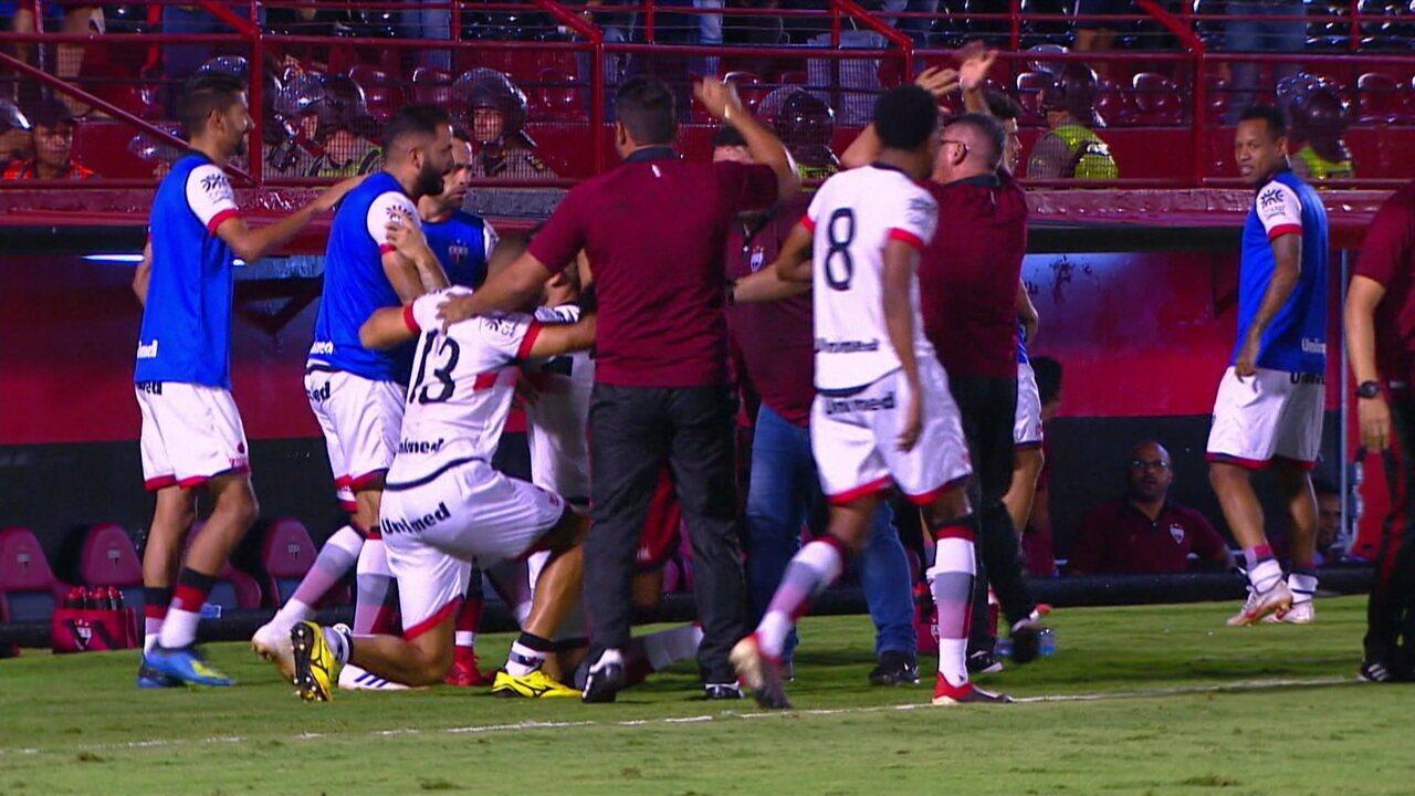 Os gols de Atlético-GO 2 x 1 Londrina pela 33ª rodada do Brasileiro Série B
