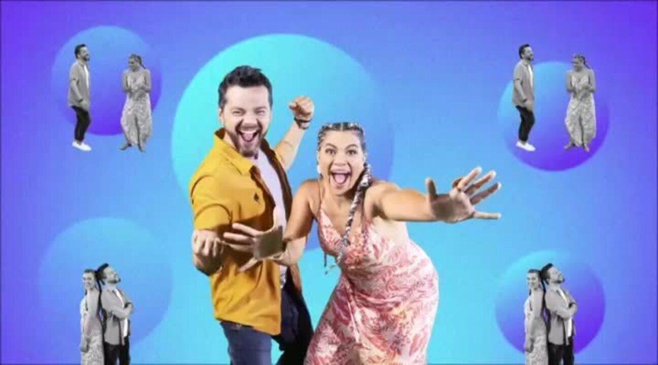 Isa Melo e Beto Café são os apresentadores do É Pipoco!