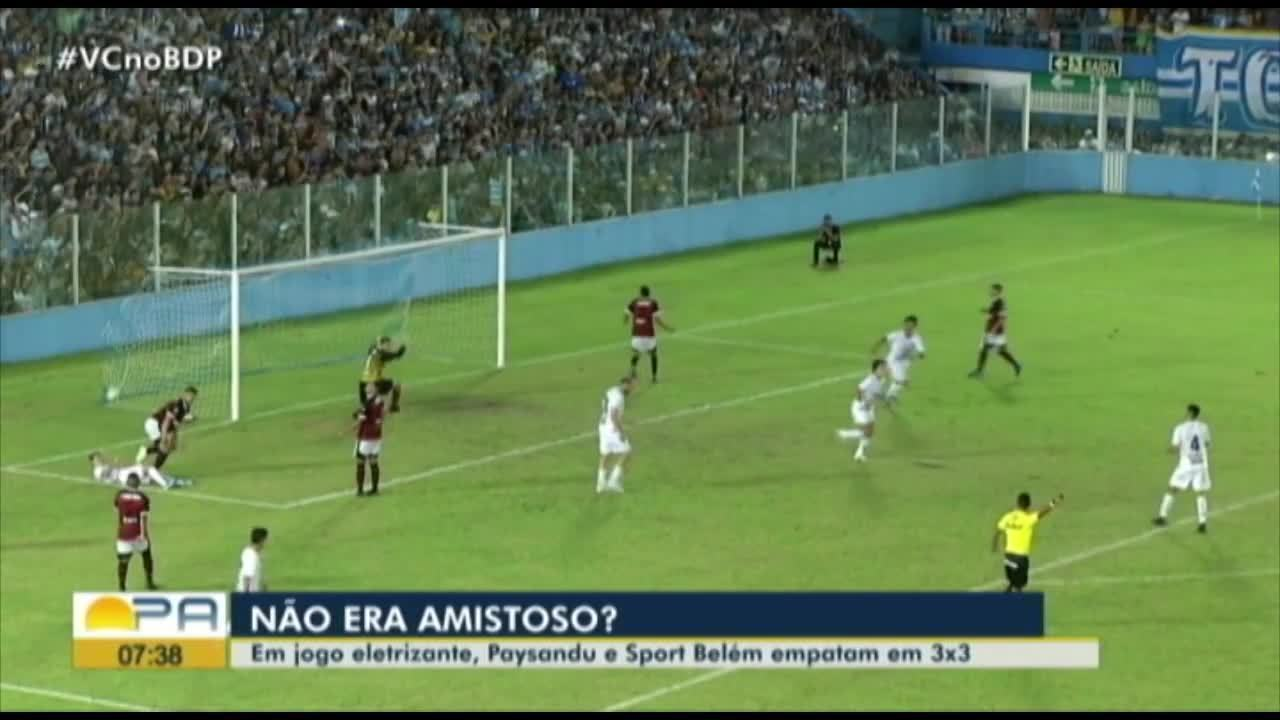Confira os principais lances de Paysandu 3 x 3 Sport Belém
