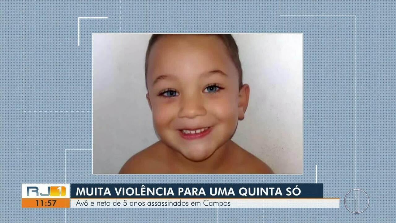Avô e neto de 5 anos são mortos a tiros dentro de casa em Campos