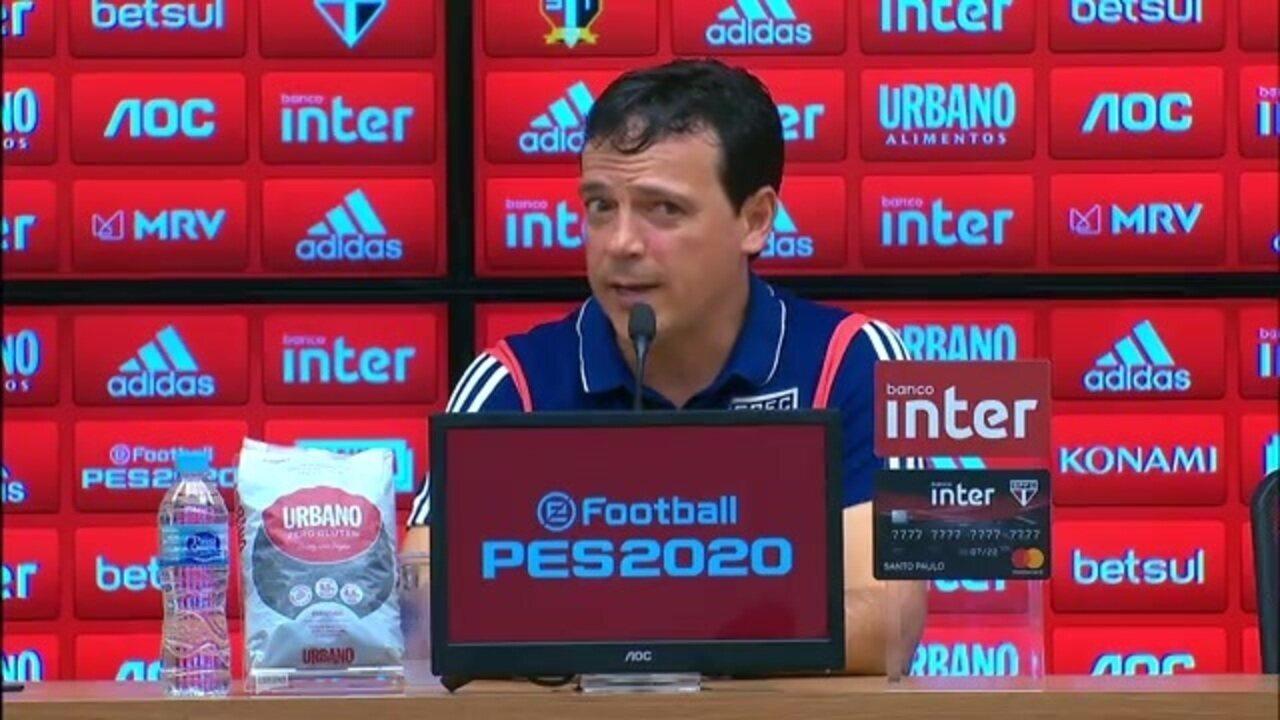 Veja como foi a entrevista do técnico Fernando Diniz, do São Paulo, após derrota para o Fluminense