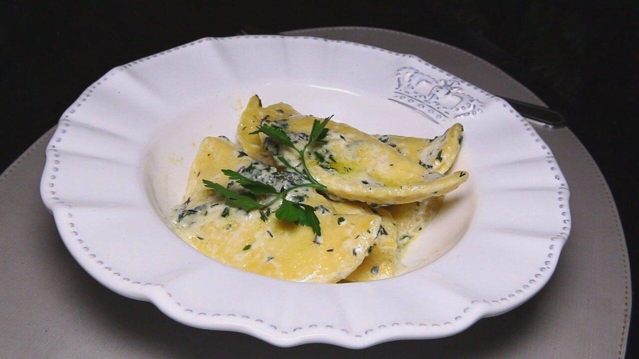 Culinaria #013: Aprenda a fazer um ravioloni de queijo gorgonzola