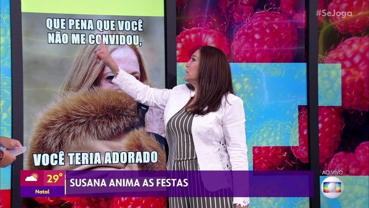 Susana Vieira tenta lembrar tiradas que viraram memes