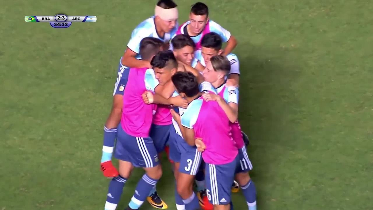 Em 2017, Kaio Jorge marcou, mas Brasil perdeu na final do Sul-Americano Sub-15