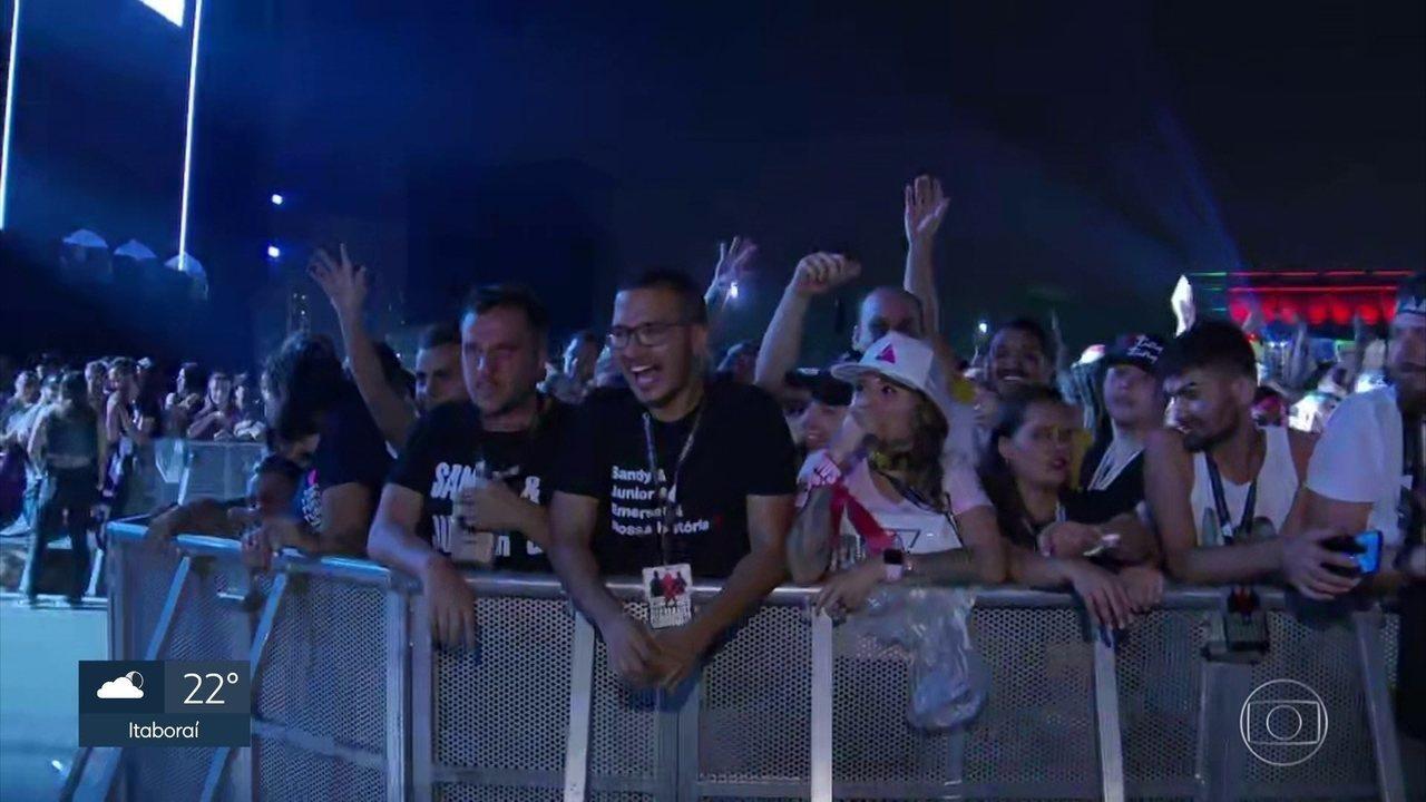 Mais de 100 mil pessoas lotam Parque Olímpico para assistir show de Sandy e Júnior