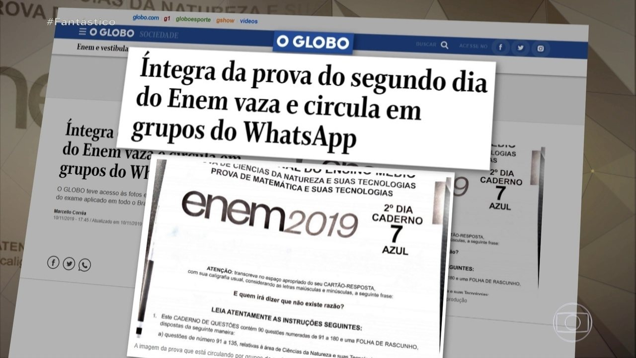 Íntegra da prova do Enem vaza, diz jornal