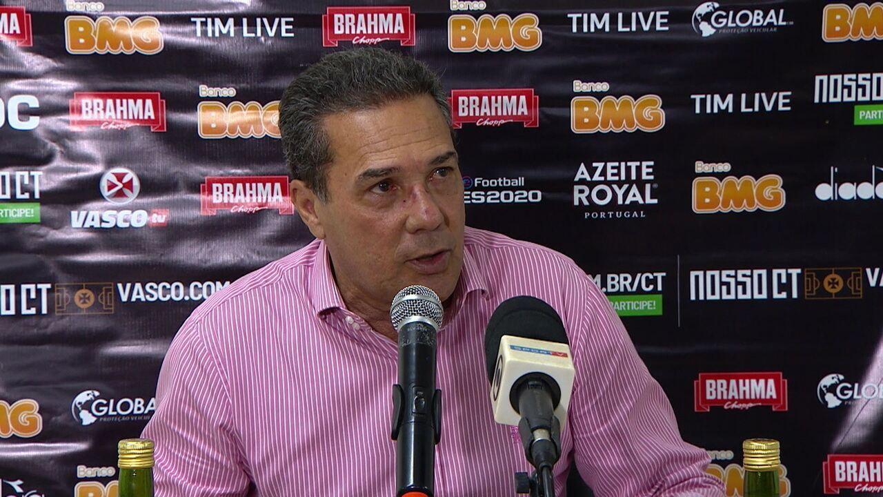 Veja a entrevista coletiva de Luxemburgo depois da vitória do Vasco sobre o CSA