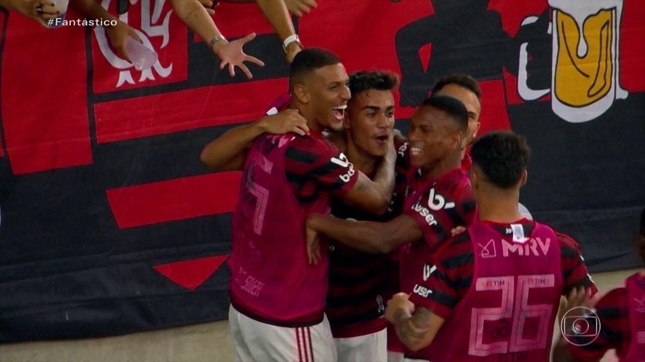 Gols do Fantástico: Flamengo vence Bahia com gol histórico de Gabigol