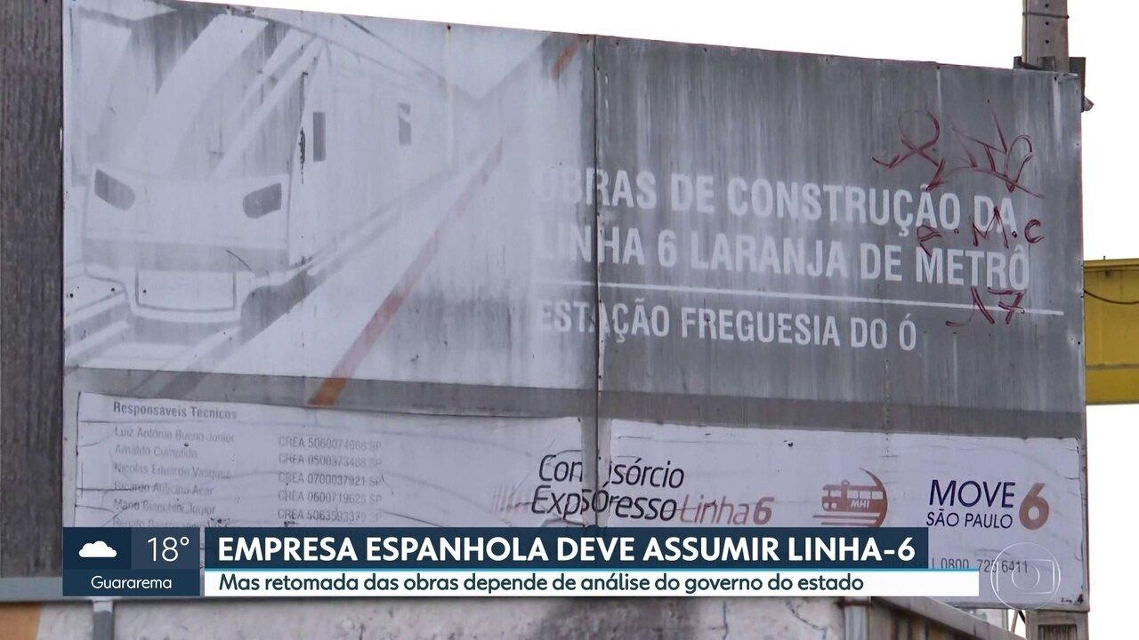 Empresa espanhola poderá retomar obras da Linha-6 Laranja do metrô