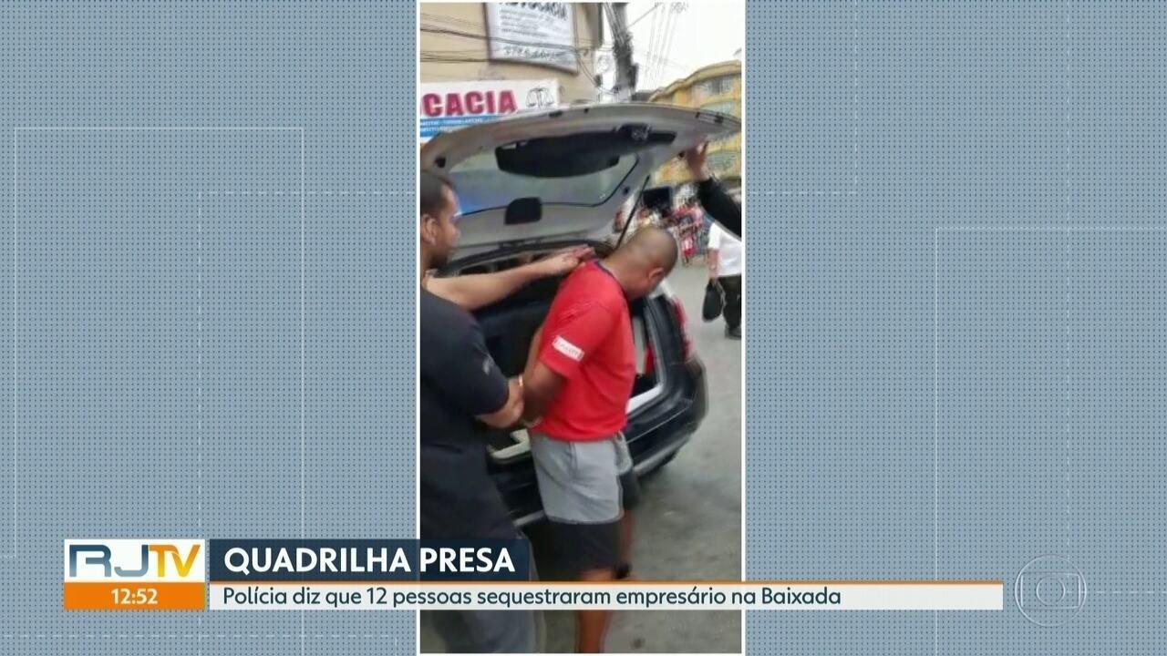 Polícia prende 12 pessoas acusadas de participar de sequestro de um empresário em Caxias