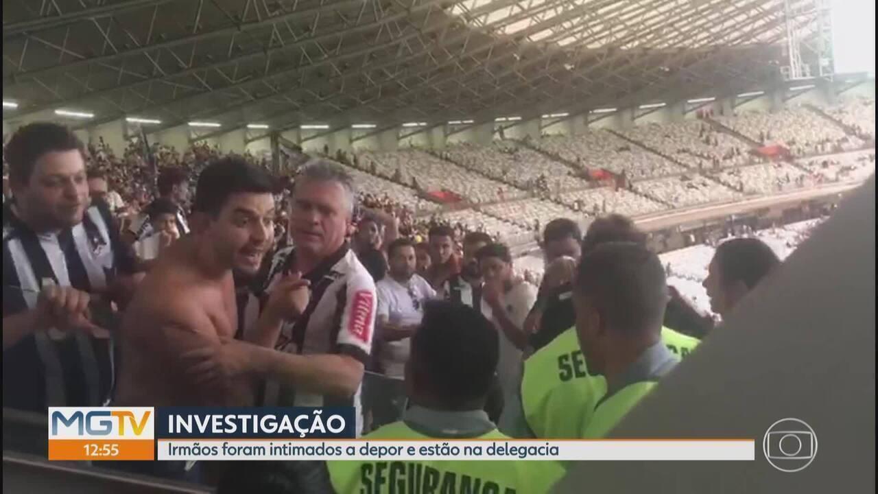 Irmãos suspeitos de injúria racial contra segurança no Mineirão prestam depoimento