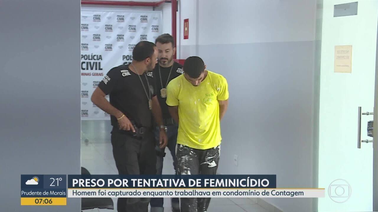 Homem é preso em Contagem, na Grande BH, por tentativa de feminicídio no RJ