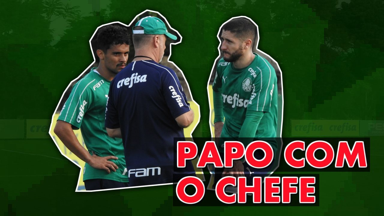 Mano Menezes tem conversa com Gustavo Scarpa e Zé Rafael após treino