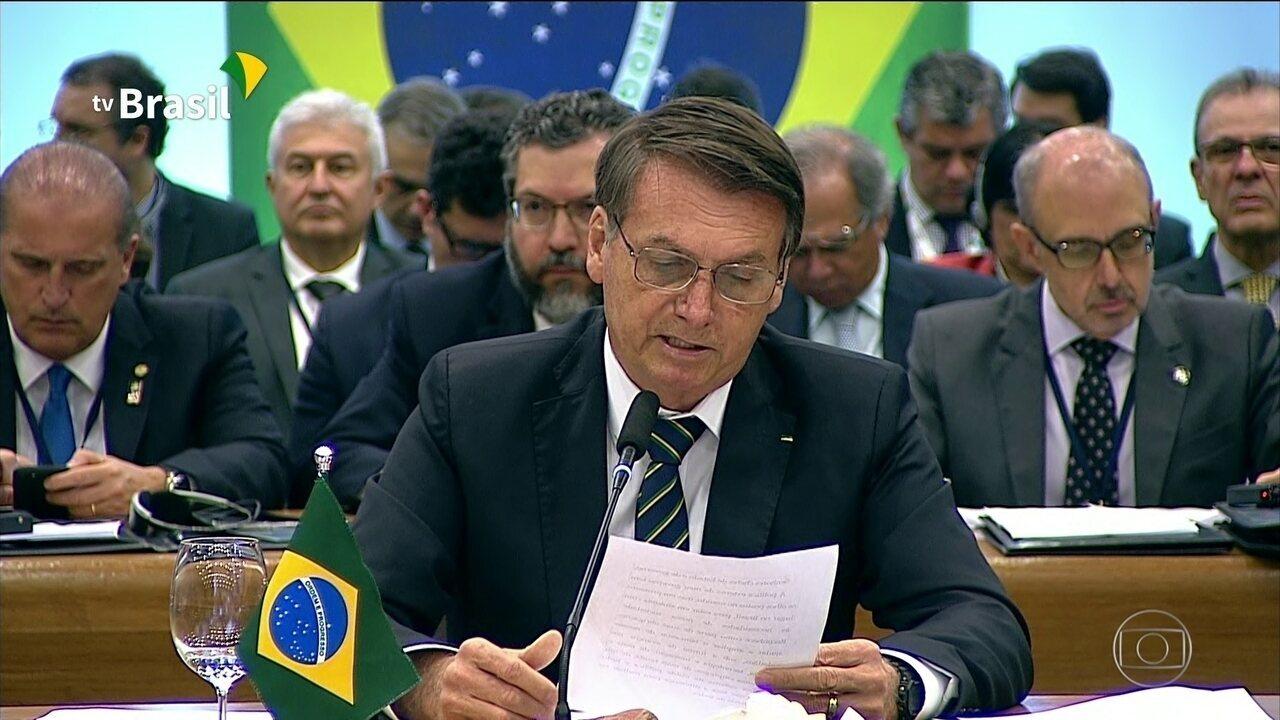 Bolsonaro discursa no encerramento da Cúpula do Brics, em Brasília